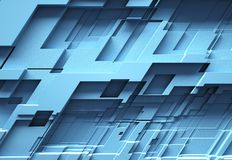 Corporate blue blocks 3d background stock photography