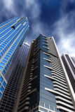 Corporate blue buildings Royalty Free Stock Photos