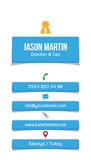 Corporate blue business card. Rgb color mode. Vector eps 14 Royalty Free Stock Photos