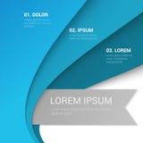 Corporate blue enumeration vector background mockup stock illustration