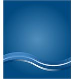 Corporate Blue Wave Background Stock Images