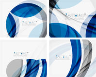 Corporate blue wave background for your business Stock Images