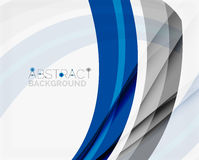 Corporate blue wave background for your business Stock Photography