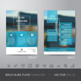 Corporate blur background brochure flyer design layout template Royalty Free Stock Image