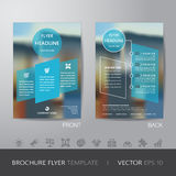 Corporate blur background brochure flyer design layout template Stock Photography