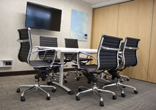 Corporate boardroom at a head office. Royalty Free Stock Photo