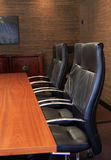 Corporate boardroom setting Stock Photo