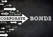 Corporate Bonds. Chalkboard concept graphic Stock Photo