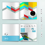 Corporate booklet promotion template with color elements. Vector company brichure business style for advertising, report or guidel Stock Photo
