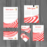Corporate brand Business identity design Template Layout. Letter, Letterhead, Folder, card. Vector company triangle Stock Photo