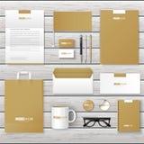 Corporate Brand Identity Mockup set. royalty free illustration