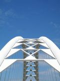 Corporate Bridge. A bridge against blue sky.  Great for a corporate concept Royalty Free Stock Photo