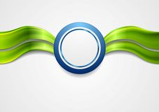 Corporate bright abstract background. Waves and. Circle. Vector art design royalty free illustration