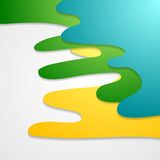 Corporate bright wavy abstract background Royalty Free Stock Photo