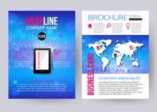 Corporate brochure business geometric design Stock Image