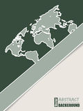 Corporate brochure design in green with world map Stock Photography