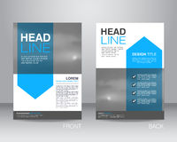 Corporate brochure flyer design layout template in A4 size, with Stock Photo