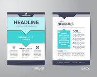 Corporate brochure flyer design layout template in A4 size, with Royalty Free Stock Images