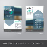 Corporate brochure flyer design layout template in A4 size, with Stock Photos