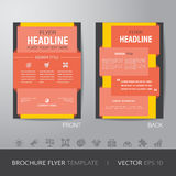 Corporate brochure flyer design layout template in A4 size, with Royalty Free Stock Photo