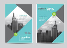 Corporate brochure flyer design layout template in A4 size. Modern style.vector Royalty Free Stock Photos
