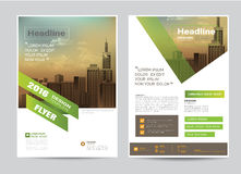 Corporate brochure flyer design layout template in A4 size Stock Image