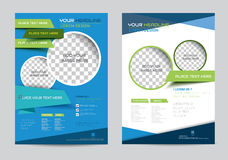 Corporate brochure flyer design layout template in A4 size Royalty Free Stock Photography