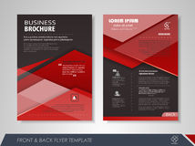 Corporate brochure red Royalty Free Stock Photography