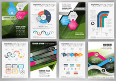 Corporate brochures and infographics elements Stock Photo