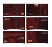 Corporate brown business card  set. This is file of EPS10 format Royalty Free Stock Photos