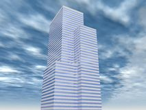Corporate building 04. Rendered corporate building with sky stock illustration