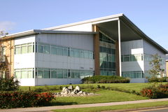 Corporate Building. A modern corporate HQ building royalty free stock photo