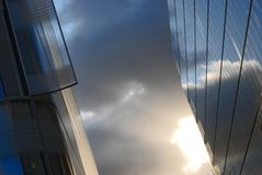 Corporate building. Corporate Glass building in the London Royalty Free Stock Photos