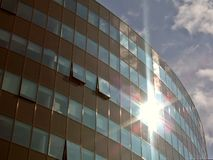 Corporate building. Modern and new corporate building in glass Stock Image