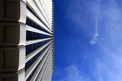 Corporate building. Low angle view. Plenty of copy-space provided Stock Photography