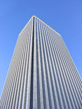 Corporate building. White corporate building over blue sky Royalty Free Stock Photo