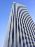 Corporate building. White corporate building over blue sky Royalty Free Stock Image