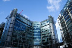 Corporate Building. Modern office & residential architecture in London stock image