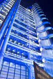 Corporate building. Night time view of the Lloyds Building in the City of London Royalty Free Stock Photo