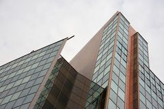 Corporate building in the city Stock Images