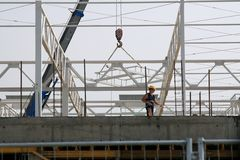 Corporate Building Construction Worker. Building Worker Stock Photography