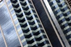 Corporate building facade. Close up of a modern corporate building facade Stock Image