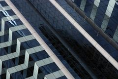 Corporate building facade. Close up of a modern corporate building facade Stock Photography
