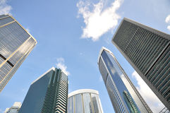 Corporate  building highrises Royalty Free Stock Images