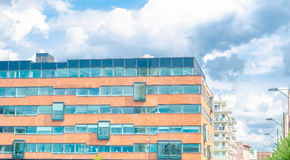Corporate building. Modern looking office building in Sweden Stock Photography