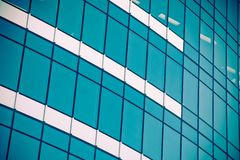 Corporate building with office windows Royalty Free Stock Photos