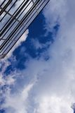 Corporate building rising to the sky. Plenty of copy-space provided Royalty Free Stock Images