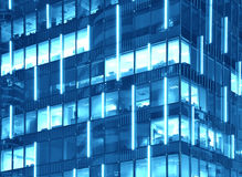 Corporate Building Texture (Duotone in Blue) Royalty Free Stock Photo