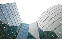 Corporate buildings. Modern corporate office block with large glass windows Royalty Free Stock Photo