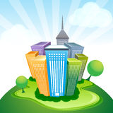 Corporate buildings. Illustration of corporate buildings with isolated background Royalty Free Stock Images